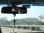 Taxi ride in Rio