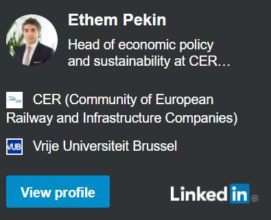 LinkedIn profile of Ethem Pekin